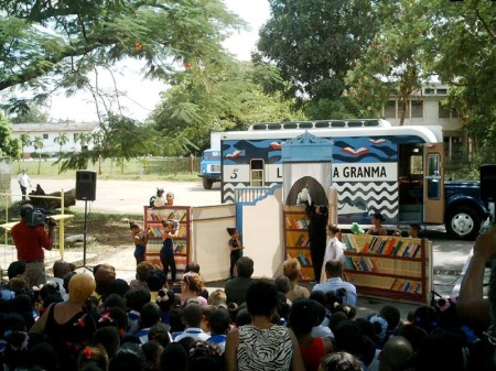Bookmobile's inauguration